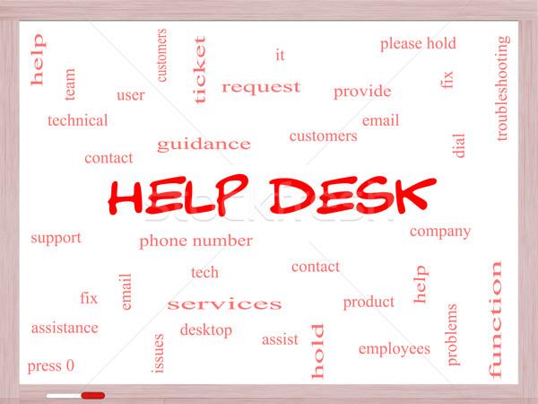 Foto d'archivio: Help · desk · word · cloud · clienti