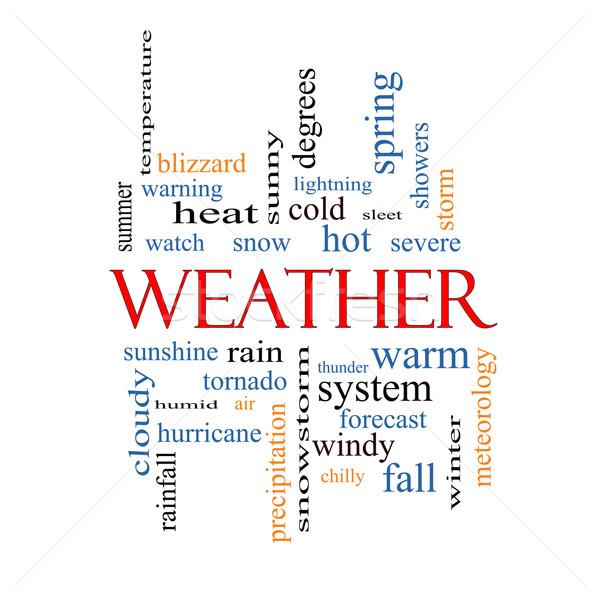 Weather Word Cloud Concept Stock photo © mybaitshop