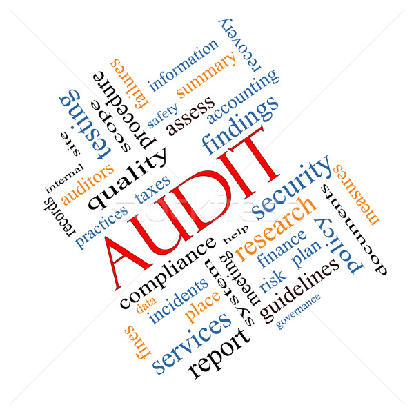 Stock photo: Audit Word Cloud Concept Angled