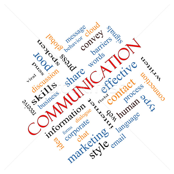 Communication Word Cloud Concept Angled Stock photo © mybaitshop