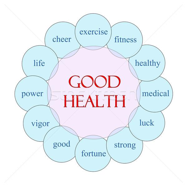 Stock fotó: Jó · egészség · körkörös · szó · diagram · rózsaszín