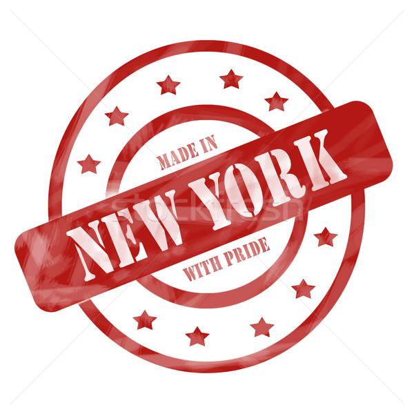 Rojo capeado Nueva York orgullo sello círculos Foto stock © mybaitshop