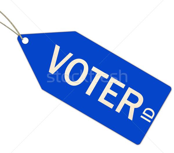 Szavazó személyi igazolvány kék címke címke készít Stock fotó © mybaitshop