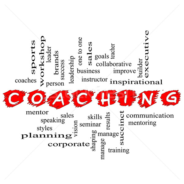 Coaching Word Cloud Scribbled  Stock photo © mybaitshop