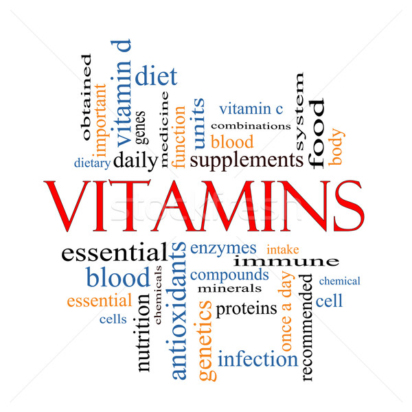 Vitamins Word Cloud Concept Stock photo © mybaitshop
