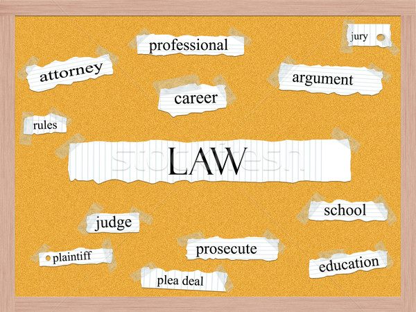 Law Corkboard Word Concept Stock photo © mybaitshop