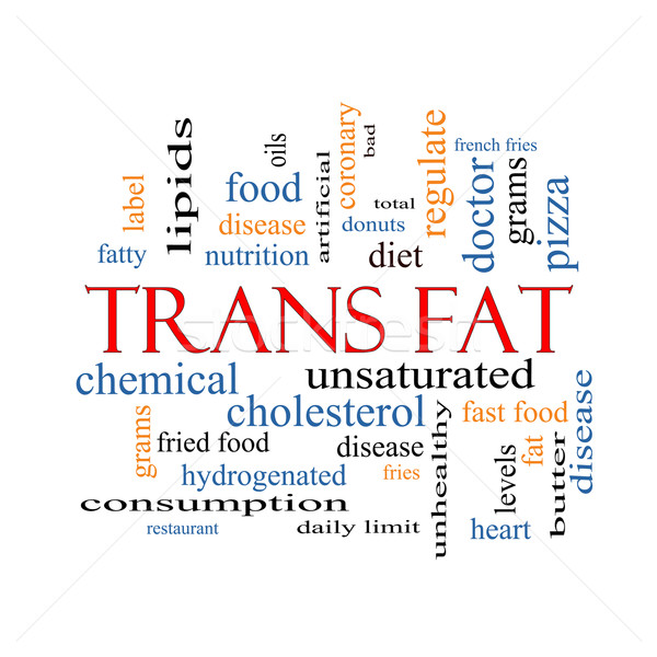 Trans Fat Word Cloud Concept Stock photo © mybaitshop