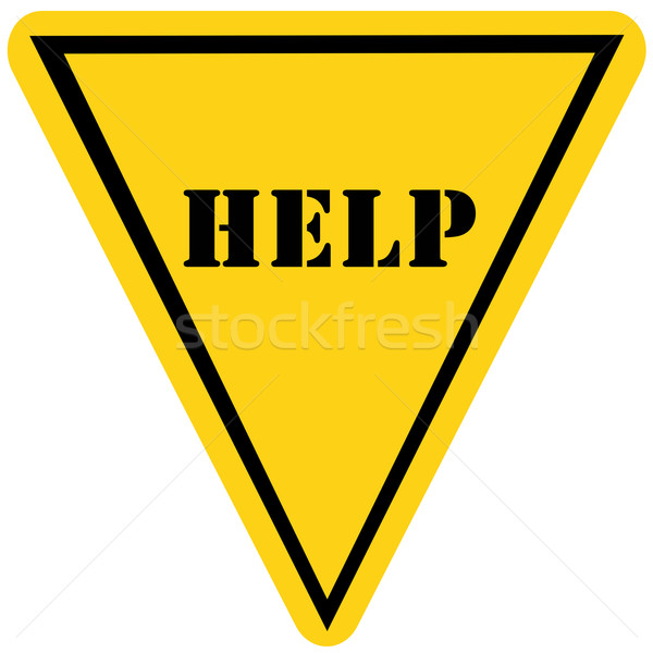 Help Triangle Sign Stock photo © mybaitshop