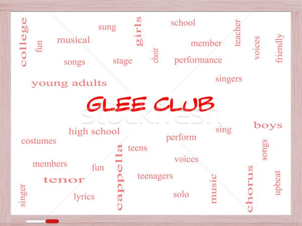 Glee Club Word Cloud Concept on a Whiteboard Stock photo © mybaitshop