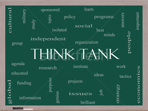 Think Tank Word Cloud Concept on a Blackboard Stock photo © mybaitshop