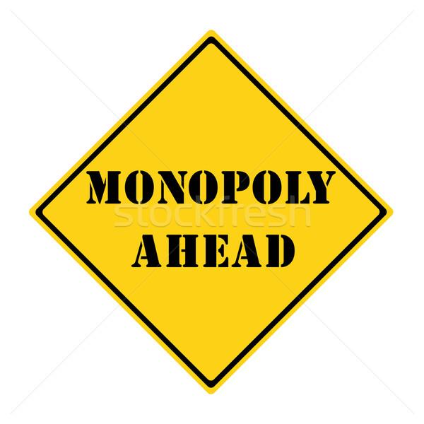 Monopole signe jaune noir diamant Photo stock © mybaitshop