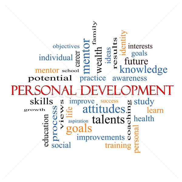 Stock photo: Personal Development Word Cloud Concept