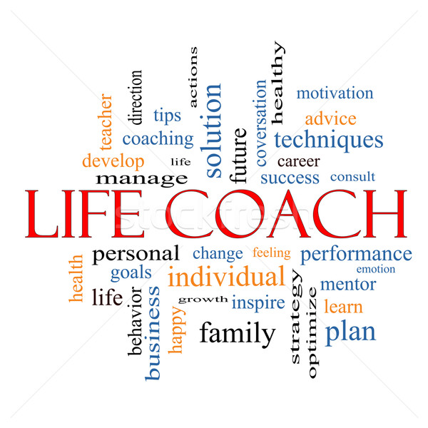 Life Coach Word Cloud Concept  Stock photo © mybaitshop