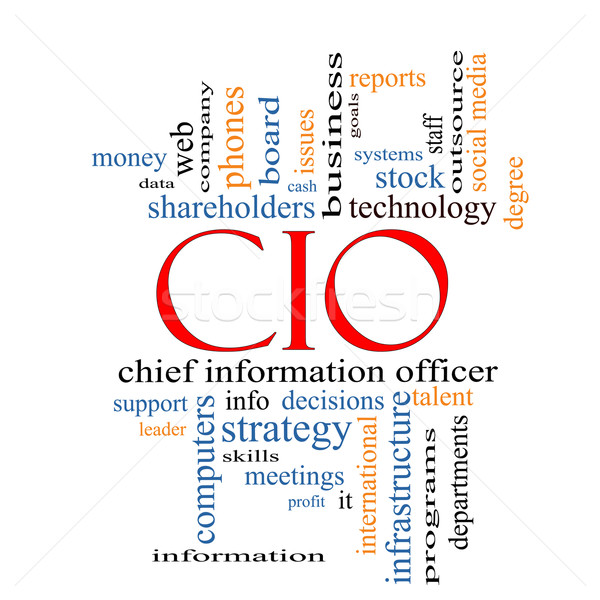 CIO Word Cloud Concept Stock photo © mybaitshop