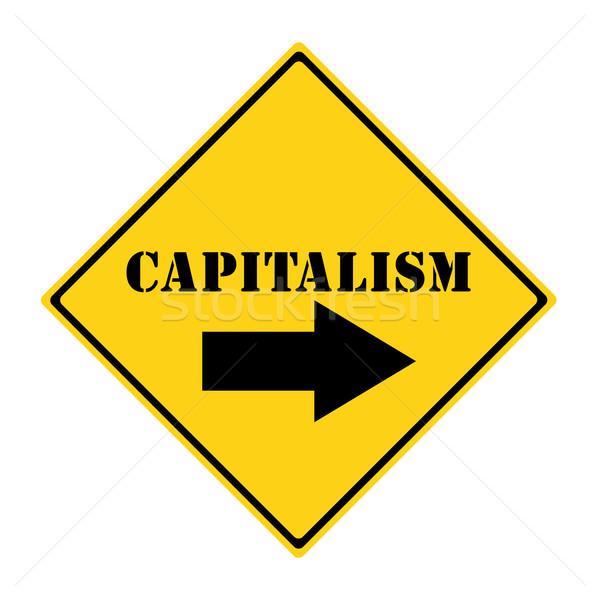 Stock photo: Capitalism that way Sign