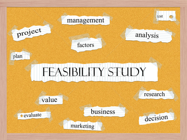Feasibility Study Corkboard Word Concept Stock photo © mybaitshop