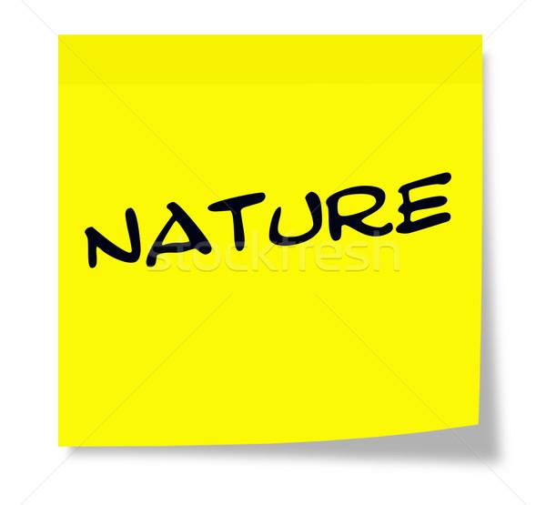 自然 付箋 書かれた 紙 黄色 ストックフォト © mybaitshop