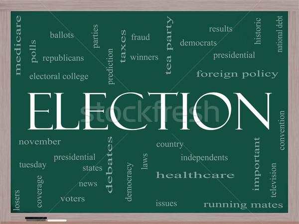 élection tableau noir nuage de mots magnifique présidentielle Photo stock © mybaitshop