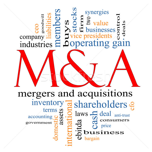 M & A (Mergers and Acquisitions) Word Cloud Concept Stock photo © mybaitshop
