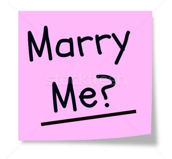 Marry Me Sticky Note? Stock photo © mybaitshop