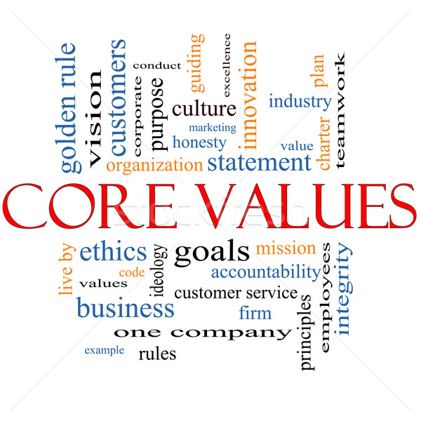 Core Values Word Cloud Concept Stock photo © mybaitshop