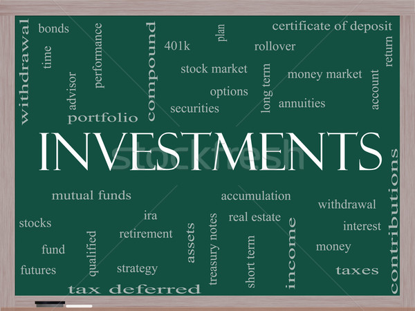 инвестиции слово облако доске взаимный Сток-фото © mybaitshop