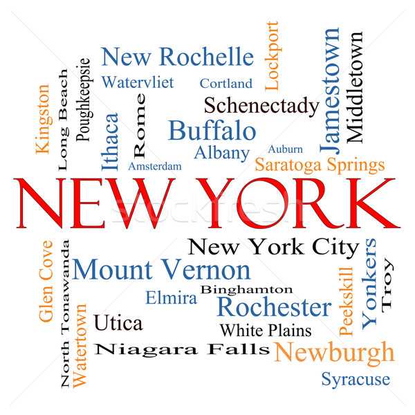 New York State Word Cloud Concept Stock photo © mybaitshop