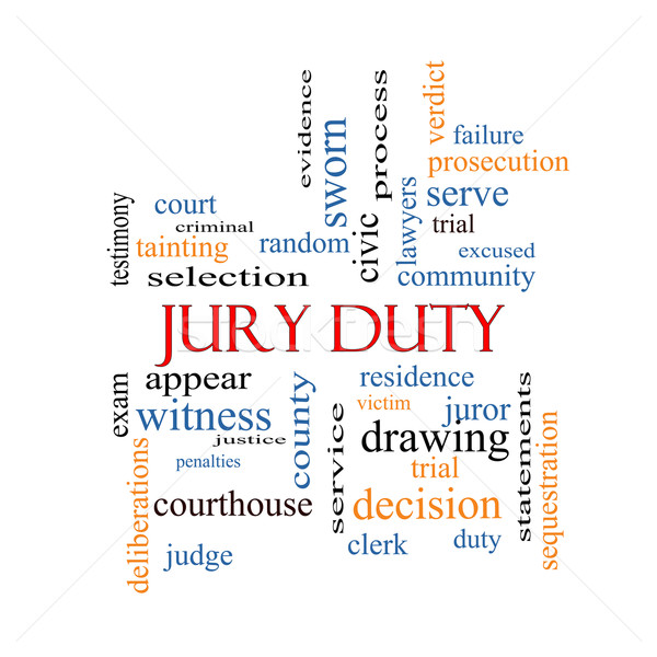 Jury Duty Word Cloud Concept Stock photo © mybaitshop