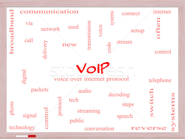 Voip word cloud voce internet Foto d'archivio © mybaitshop