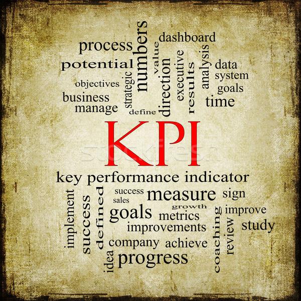 KPI Word Cloud Grunge Concept Stock photo © mybaitshop