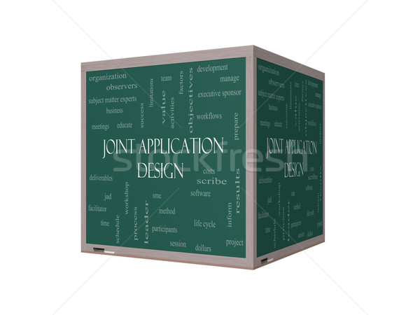 Joint Application 3D Illustration Word Cloud Concept on a Blackboard Stock photo © mybaitshop