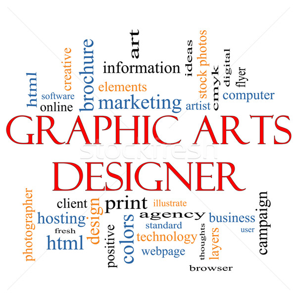Graphic Arts Designer Word Cloud Concept Stock photo © mybaitshop
