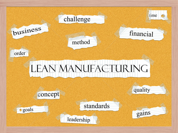 Lean Manufacturing Corkboard Word Concept Stock photo © mybaitshop