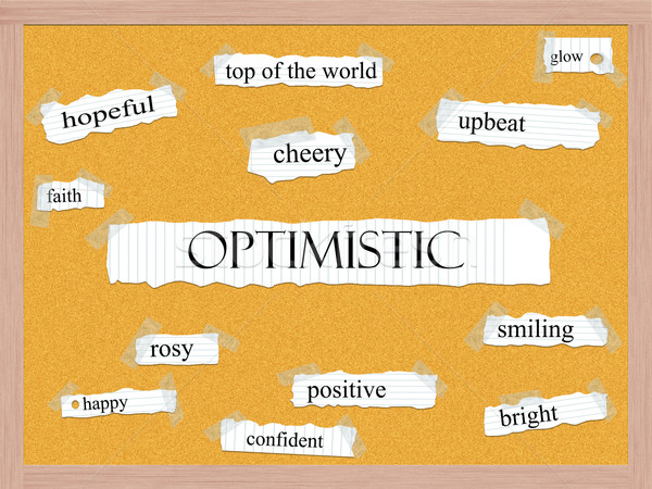 Optimistic Corkboard Word Concept Stock photo © mybaitshop