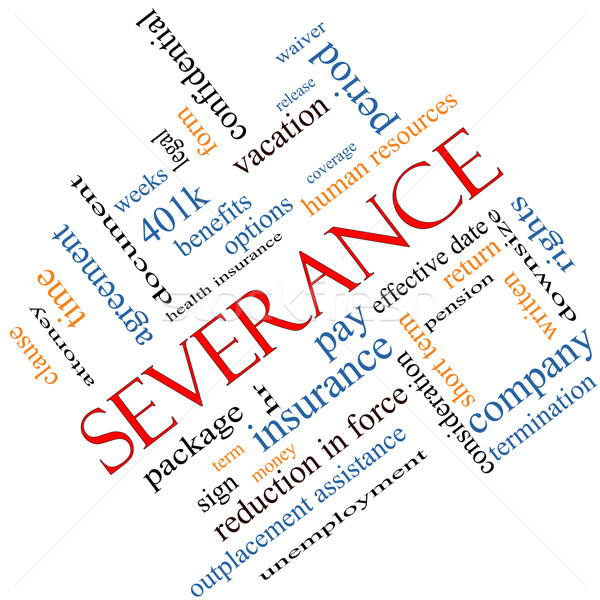 Severance Word Cloud Concept Angled Stock photo © mybaitshop