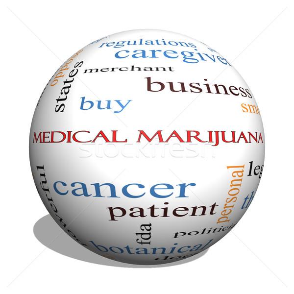 Medical Marijuana 3D sphere Word Cloud Concept Stock photo © mybaitshop
