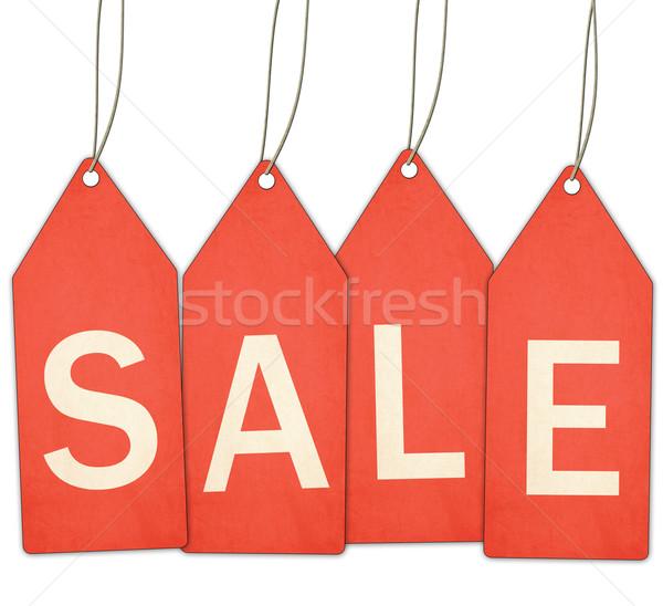 продажи красный строку белый Сток-фото © mybaitshop