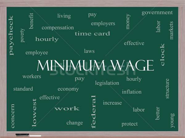 заработная плата слово облако доске законодательство Сток-фото © mybaitshop