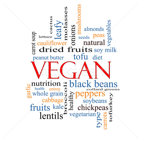 Vegan Word Cloud Concept Stock photo © mybaitshop