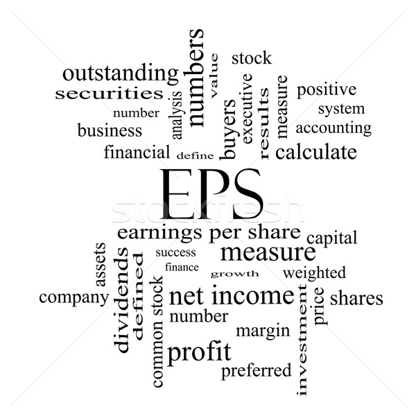 EPS Word Cloud Concept in black and white Stock photo © mybaitshop