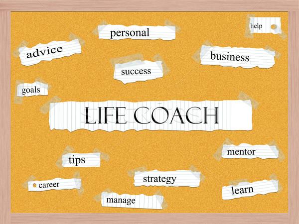 Life Coach Corkboard Word Concept Stock photo © mybaitshop