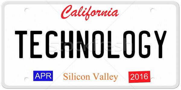 технологий номерной знак имитация Калифорния 2016 Сток-фото © mybaitshop