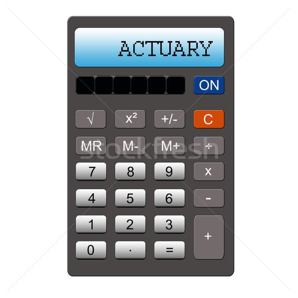 Calculator imitatie woord geschreven groot Stockfoto © mybaitshop