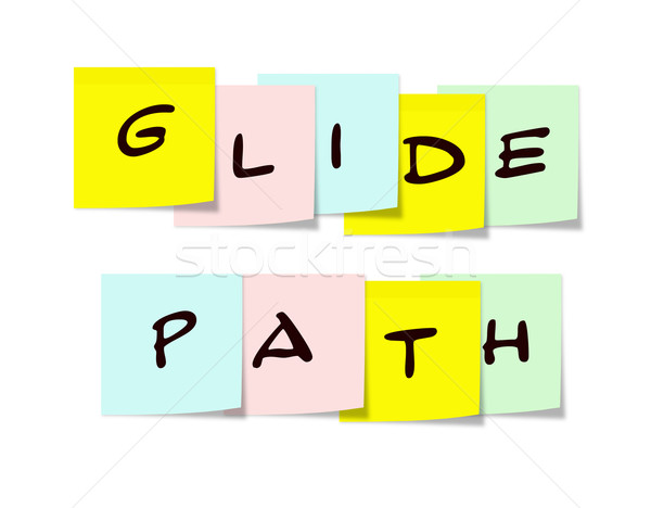 Glide Path Sticky Notes Stock photo © mybaitshop