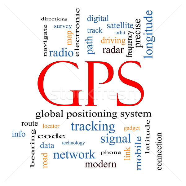 GPS Word Cloud Concept Stock photo © mybaitshop