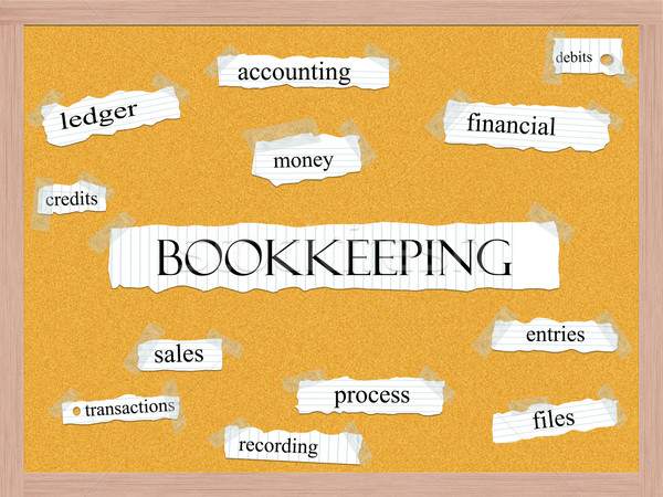 Bookkeeping Corkboard Word Concept Stock photo © mybaitshop