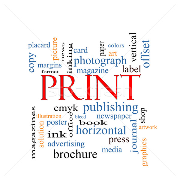 Print Word Cloud Concept Stock photo © mybaitshop