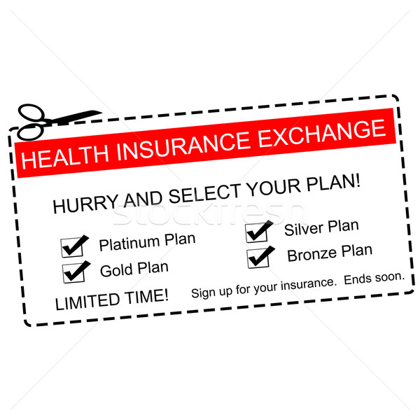 Health Insurance Exchange Coupon Concept Stock photo © mybaitshop