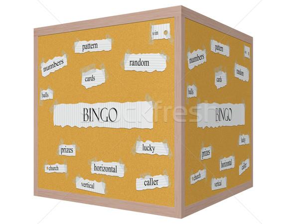 Bingo 3D kubus woord groot patroon Stockfoto © mybaitshop