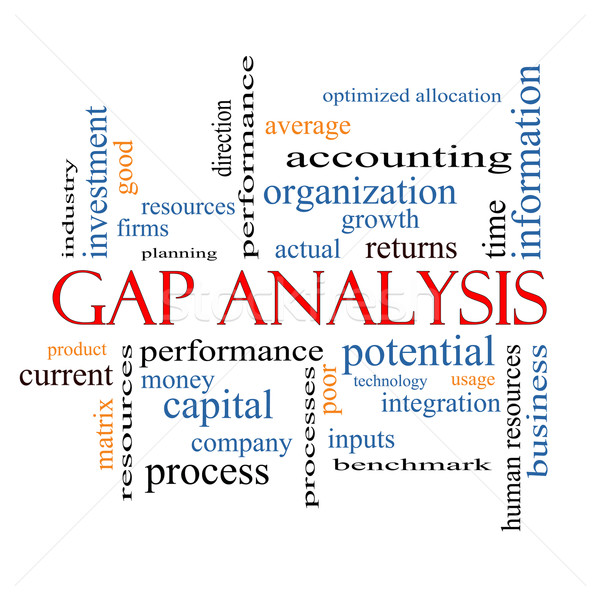 Gap Analysis Word Cloud Concept Stock photo © mybaitshop